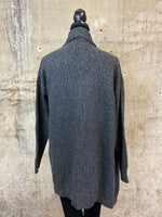 Charcoal Buckle Cardigan