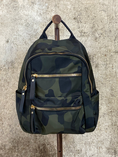 Army Green Camo Print Backpack