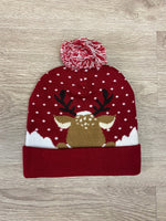 Light-up Christmas Pom Hats