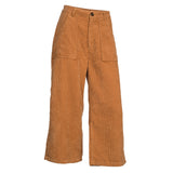 Cropped Corduroy Wide Leg Pants