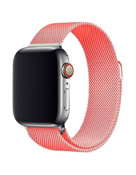 Orange Mesh Apple Watch Band