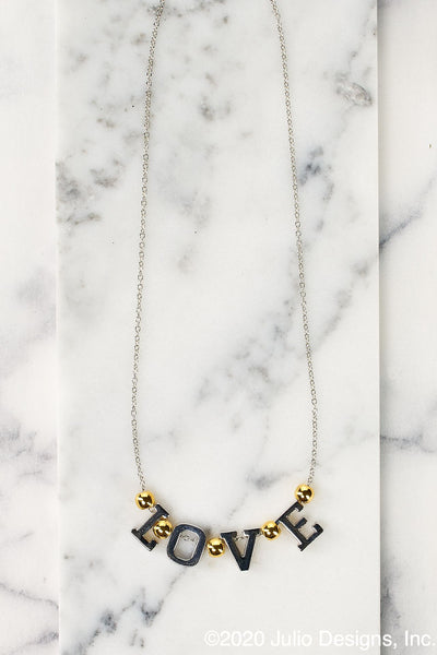 Peeps Block Letters Necklace