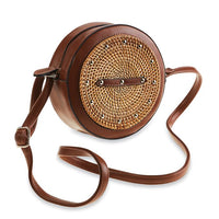 Rattan Studded Crossbody
