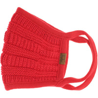 C.C. Solid Color Knit Face Mask