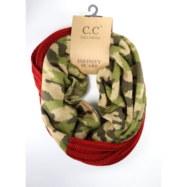 C.C. Camouflage Infinity Scarf