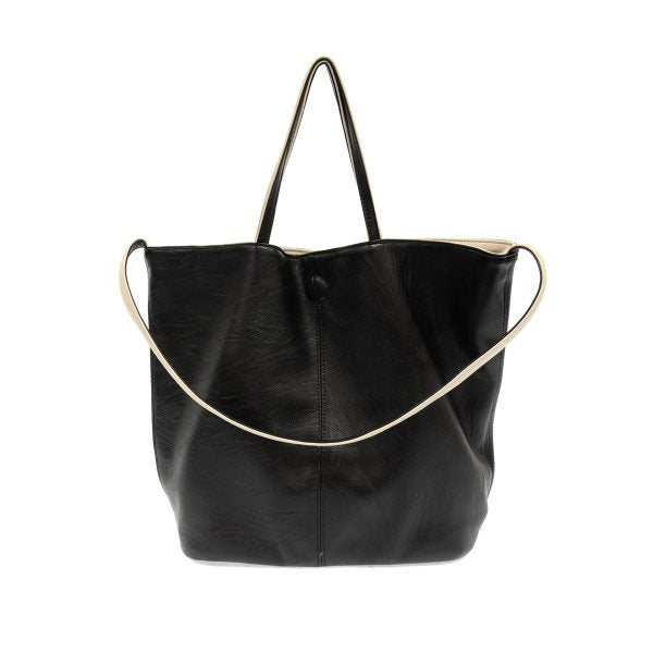 Black Riley Reversible Slouchy Tote