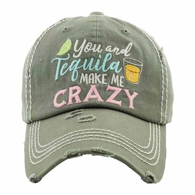 Grey You And Tequila Ball Cap