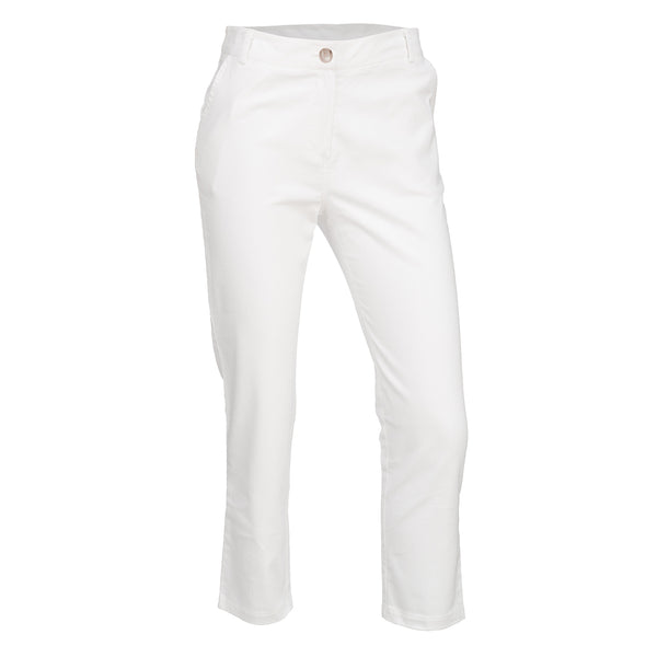 White Stretch Trouser
