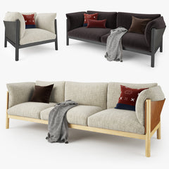 DePadova Yak Sofa Collection 3D Model