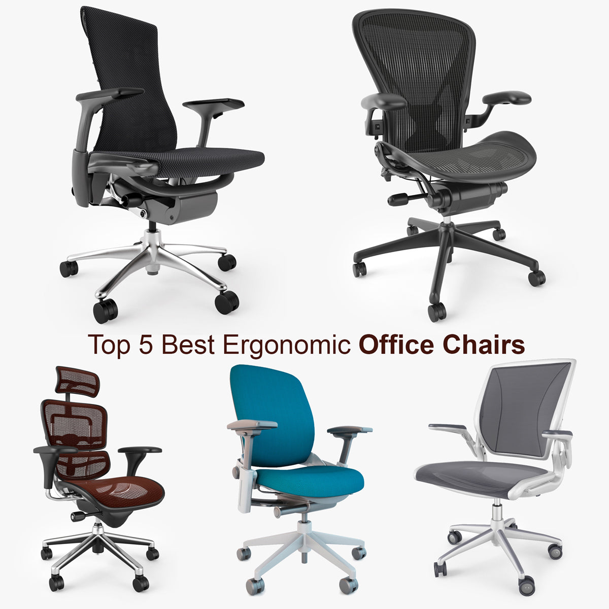 Top 344 Best Ergonomic Office Chairs 34D Model