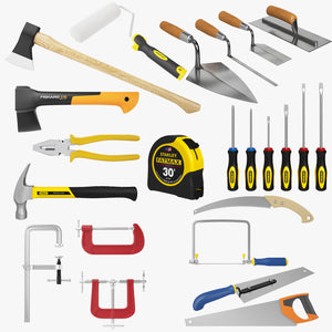 Industrial Tools Kit Collection 3D Model