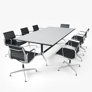 Vitra Aluminium Chair & Conference Table 3D Model