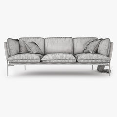 And Tradition Cloud Three Seater Sofa 3D Model