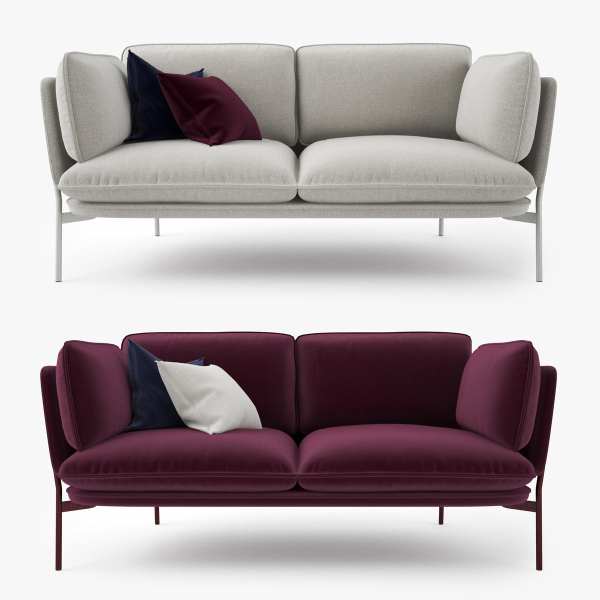 And Tradition Cloud Two Seater Sofa 3D Model