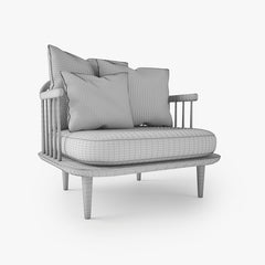 FREE And Tradition Fly Chair SC1 3D Model