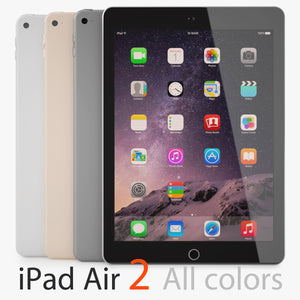 Apple iPad Air 2 All Colors 3D Model