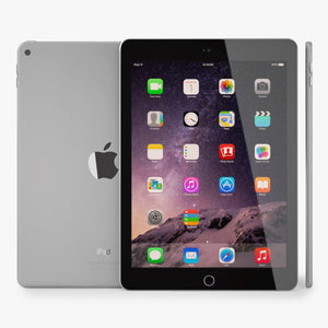 Apple iPad Air 2 Space Gray 3D Model