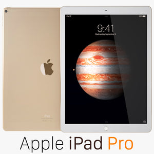 Apple iPad Pro Gold 3D Model