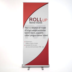 Banner Stand 3D Model