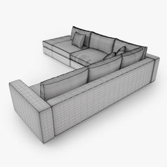 Boconcept Cenova Sofa Set 3D Model