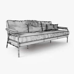 Busnelli Carpe Diem Sofa and Armchair 3D Model