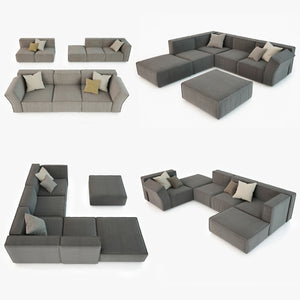 Calia Italia Richard Sofa Set 3D Model