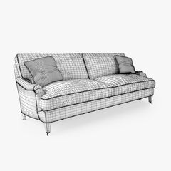 Crate and Barrel Essex Sofa with Casters 3D Model