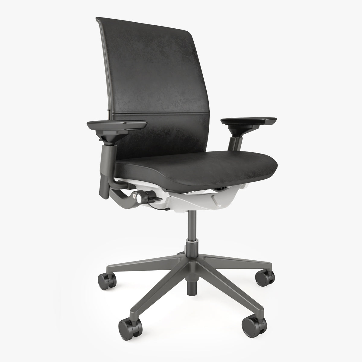 Crate And Barrel Steelcase Think Chair 3d Model Facequad