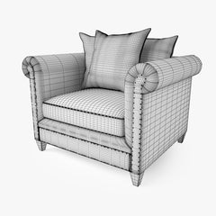 Crate and Barrel Durham Chair 3D Model
