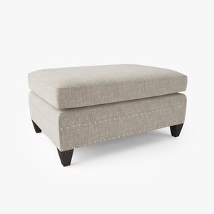 FREE Crate and Barrel Durham Ottoman 3D Model