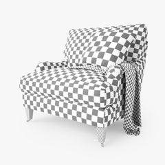 Crate and Barrel Essex Chair with Casters 3D Model
