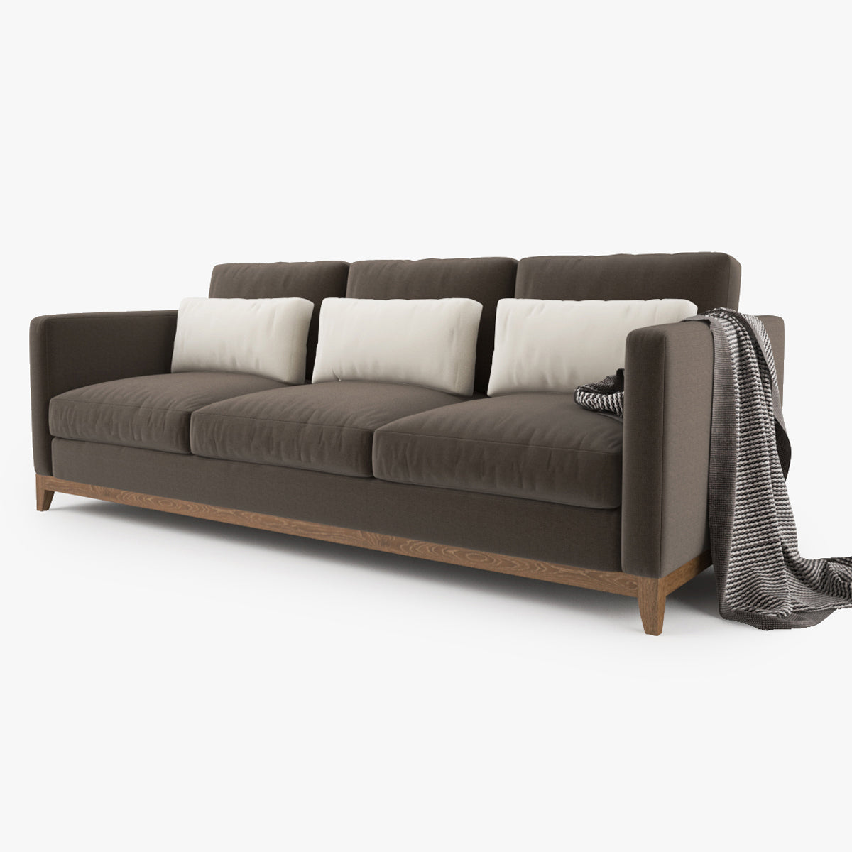 Crate and Barrel Taraval 3 Seat Sofa 3D Model