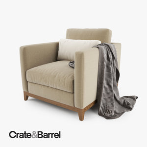 Crate and Barrel Taraval Armchair 3D Model