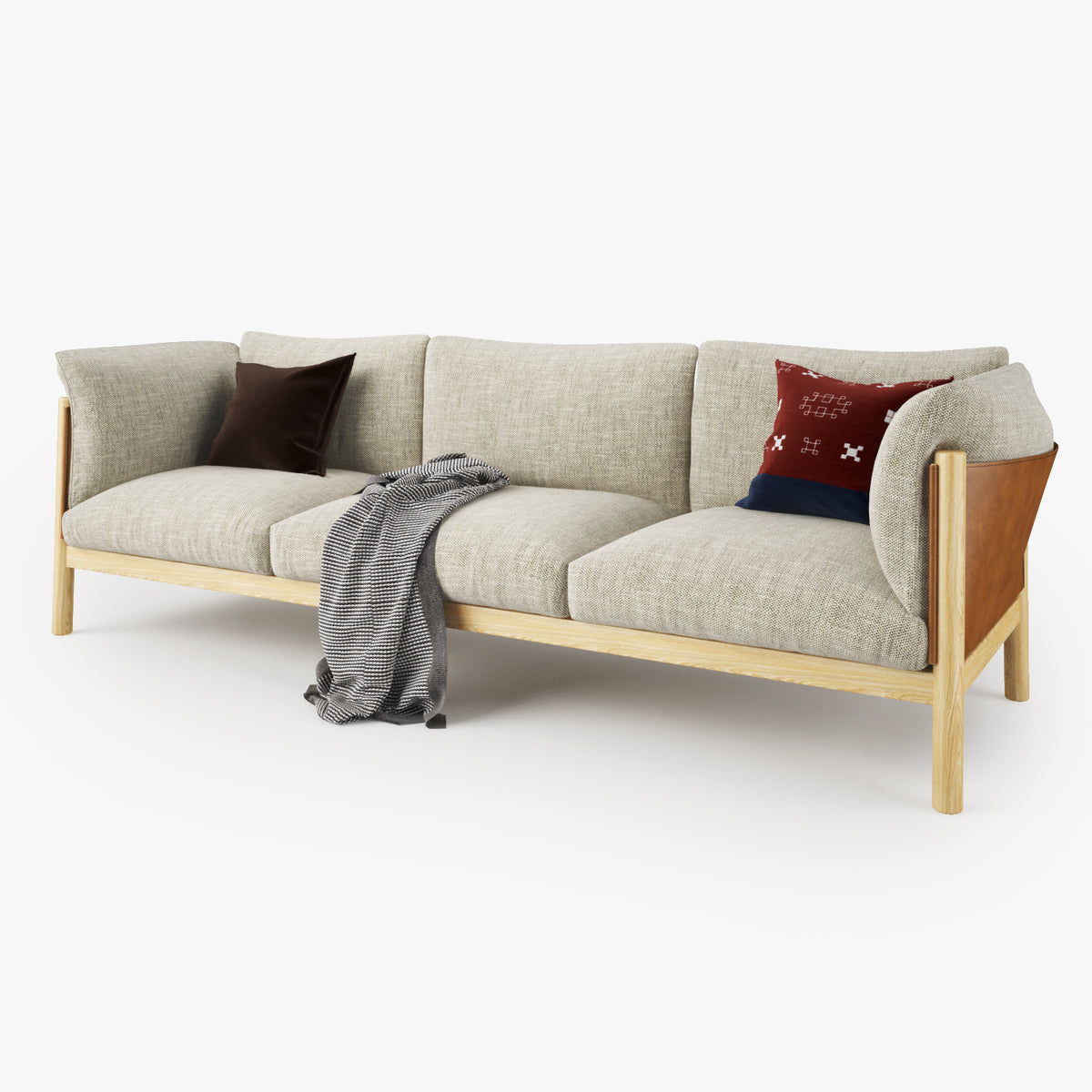 DePadova Yak Three Seater Sofa 3D Model