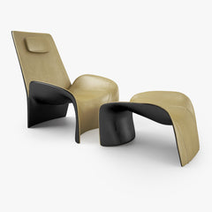 FREE Giorgetti Eva Armchair and Stool 3D Model