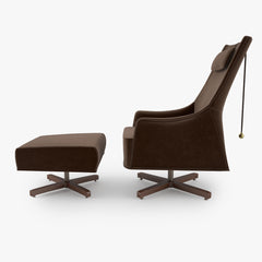 Giorgetti Mobius Swivel Wing Chair 3D Model
