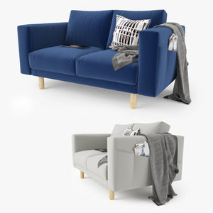 IKEA Morsborg Loveseat Sofa 3D Model