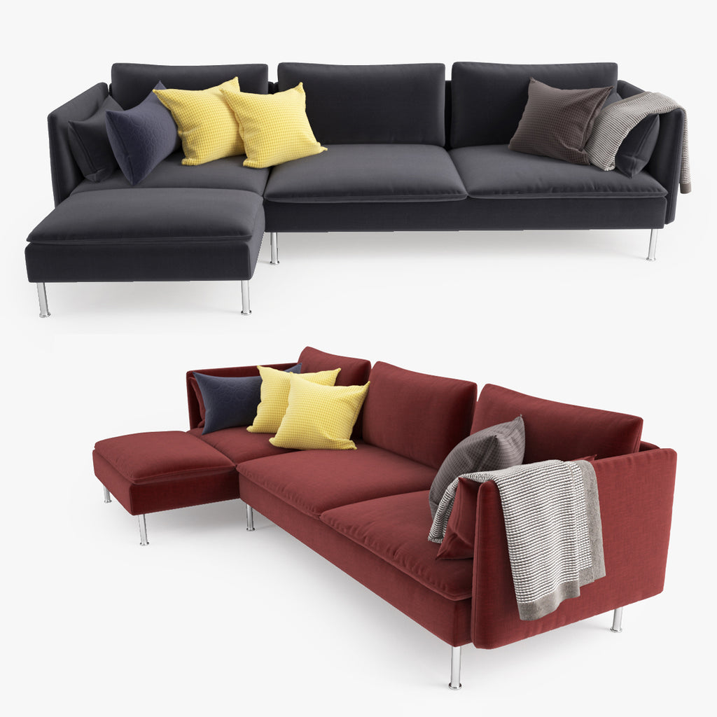 Ikea Soderhamn Sofa And Chaise Lounge 3d Model Facequad