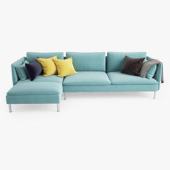IKEA Soderhamn Sofa and Chaise Lounge 3D Model
