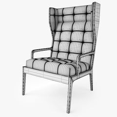 Jame UK Wingback Chair 3D Model