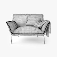 Jardan Lewis Sofa and Armchair 3D Model