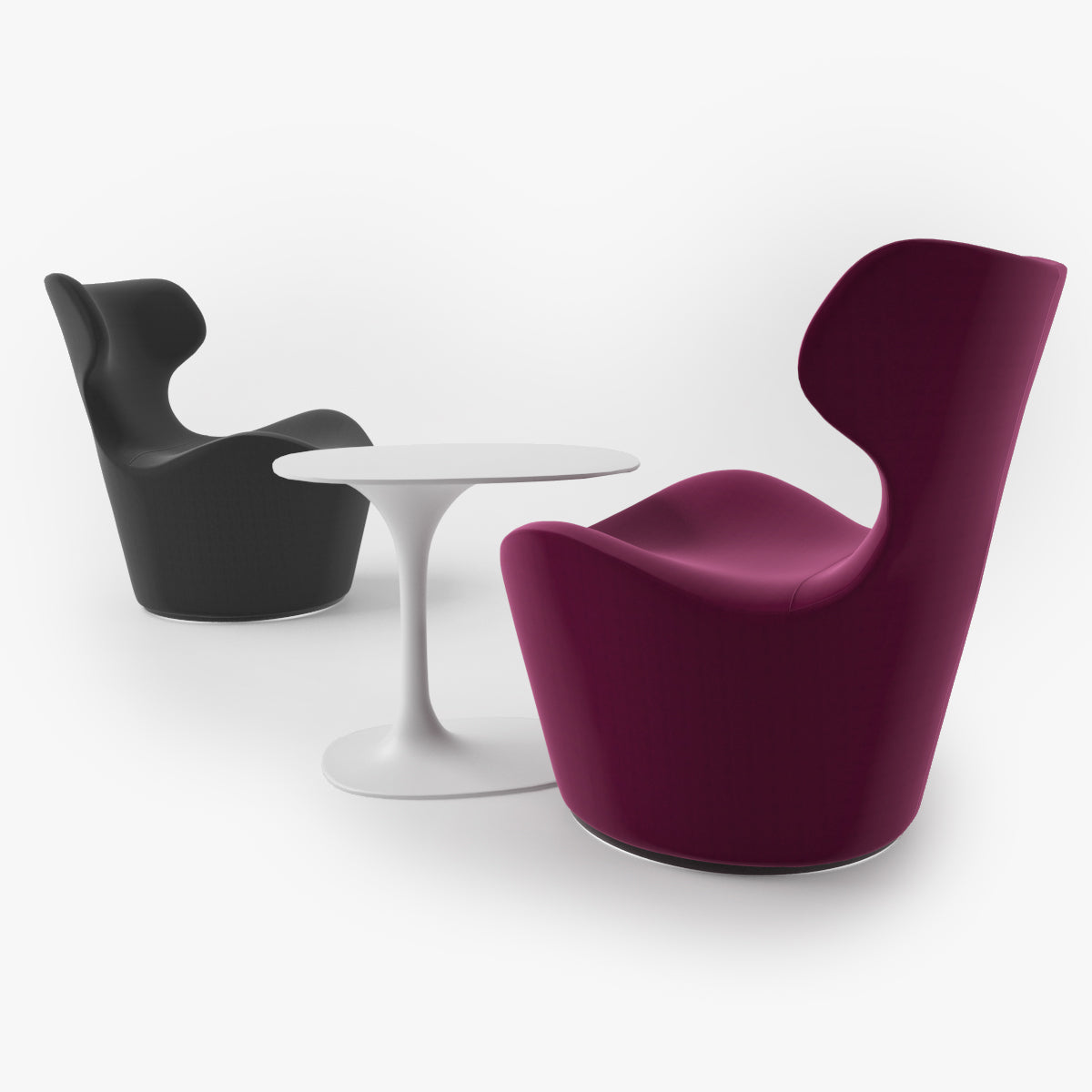 FREE B&B Italia Piccola Papilio Armchair 3D Model