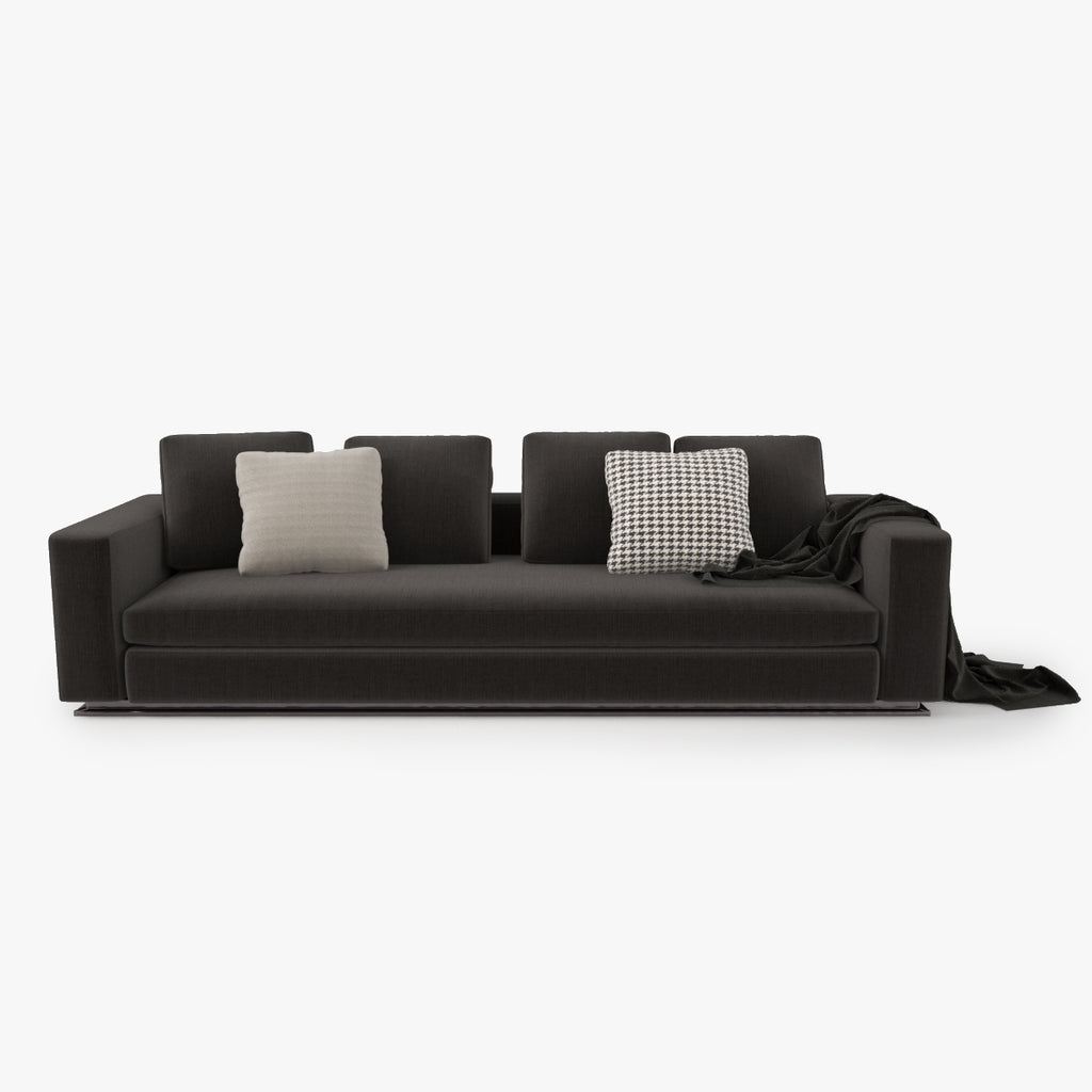 Surprising Free Minotti Leonard Sofa 3D Model Facequad Caraccident5 Cool Chair Designs And Ideas Caraccident5Info