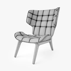NORR11 Mammoth Chair and Ottoman 3D Model