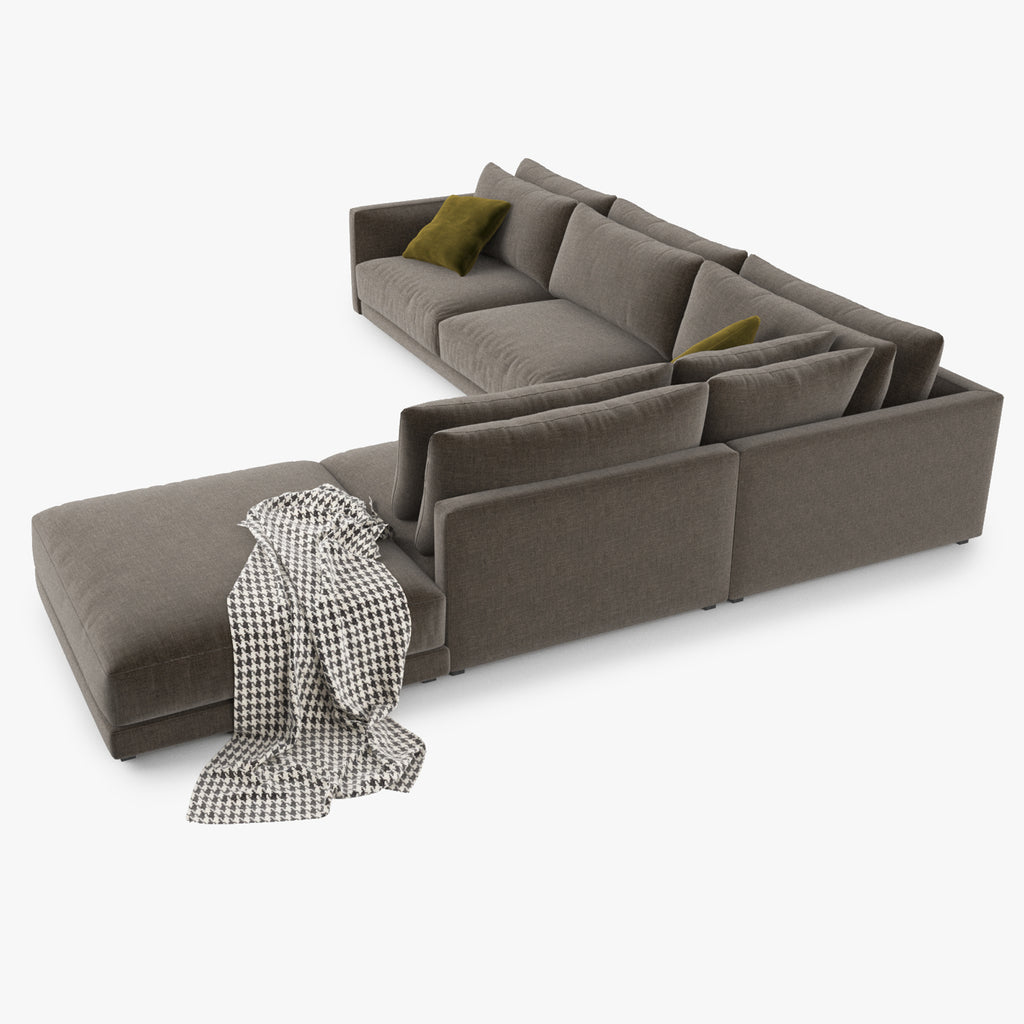 Poliform Bristol Sectional Sofa 3D Model FaceQuad