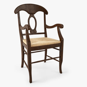 FREE Pottery Barn Napoleon Rush Seat Chair 3D Model