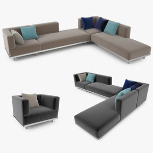 Royal Botania Lazy Sofa Collection 3D Model