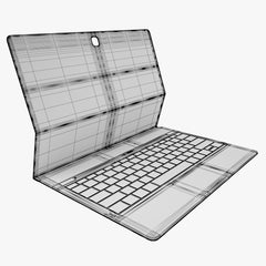 Samsung Galaxy TabPro S with Keyboard 3D Model