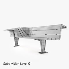 Metalco Sedis Torsion seats Bench 3D Model