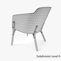 Ton Lounge Armchair Split 3D Model